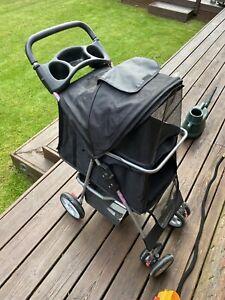 PawHut D00041CF Pet Travel 3-Wheel Stroller - Black