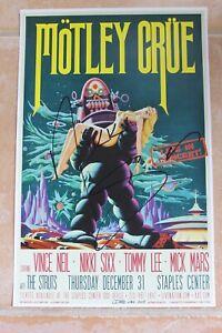 Nikki Sixx Signed Motley Crue Final Tour Show 12-31 Poster Autographed The Dirt