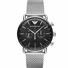 Emporio Armani Aviator Analog Black Dial Men's Watch AR11104