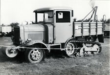 PHOTO ANCIENNE - VINTAGE SNAPSHOT - MILITAIRE CAMION TRACTEUR - MILITARY TRUCK
