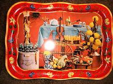 COCA-COLA 1961 ORIGINAL VINTAGE FALL HARVEST METAL TRAY