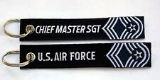 CHEIF MASTER SERGEANT KEY CHAIN ENLISTED RANK US AIR FORCE GIFT PIN UP USAF WOW
