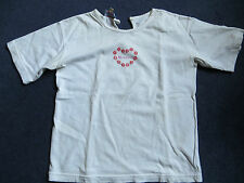 Genuine Monsoon white with embroidered logo tshirt girls 8-10