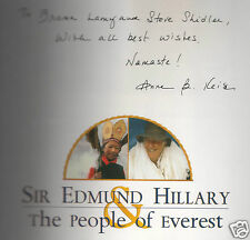 SIR EDMUND HILLARY & PEOPLE OF EVEREST-PHOTOGRAPHER ANNE B KEISER SIGNED HB 1ST