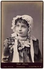 Cabinet Theatre Actress Elsie Loane Albumen photo 1890c Speck New York  S166