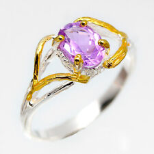 Special Price! Natural Amethyst 8x6 mm. 925 Sterling Silver Ring / RVS216