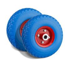 2X tire wheelbarrow wheel solid rubber 260X75mm 3.00-4 puncture proof 20mm 100kg