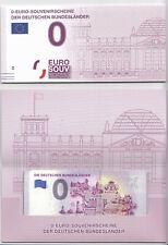SET - Die Deutschen Bundesländer XEFT in Faltkarte mit 16 x 0 Euroscheine