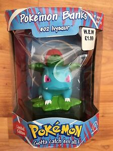 POKEMON IVYSAUR #2 HASBRO BANK FIGURE NINTENDO BNIB TOYS LIMITED EDITION