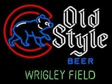 """New 2016 World Series Old Style Wrigley Field Neon Sign 18""""x14"""" Fast Ship"""