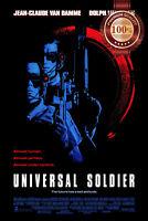 NEW UNIVERSAL SOLDIER 1992 OFFICIAL ORIGINAL CINEMA MOVIE PRINT PREMIUM POSTER