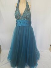 STUDIO 17 PROM,HOMECOMING,PAGEANT,FORMAL,WEDN,TULLE BEADED SEQUIN SZ 24 DRESS