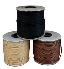 3x 100m 1,5mm Baumwollband schwarz braun natur