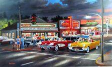 "Anticipation By Ken Zylla Corvette Thunderbird 57 Chev Print SN   30"" x 18"""