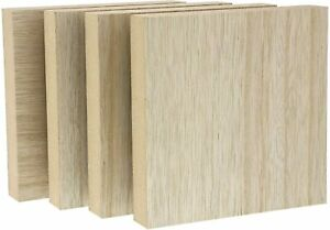 15mm Birch Block Wood Square Blocks Precise Cutting Small Cubes for Crafts DIY Projects,50 Pcs IMIKEYA Wooden Craft Cubes