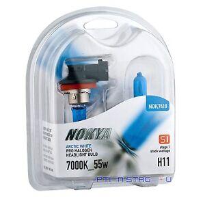 Nokya H11 Arctic White S1 55W Halogen Headlight Fog Light Bulb NOK7418 1 Pair