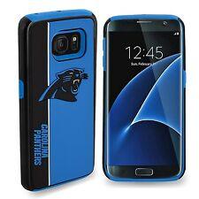 Samsung Galaxy S7 EDGE Carolina Panthers Bold Dual Hybrid 2 Piece Case