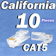 10 Pcs RJ45 8P8C Network Cable Modular Plug CAT5 CAT5E Connector LAN Ethernet