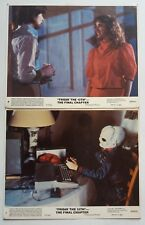 FRIDAY THE 13TH THE FINAL CHAPTER ORIGINAL US MOVIE LOBBY CARD 8X10 INCH 2PIC