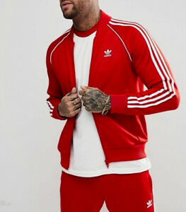 LG adidas Originals MEN'S Adicolor SUPERSTAR TRACK TOP & TRACK PANTS  RED  LAST1