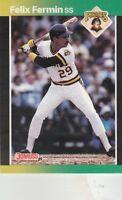 FREE SHIPPING-MINT-1989 Donruss Baseball Card #565 Felix Fermin PIRATES