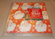 Vintage Christmas Wrapping Paper Gift Wrap 16 Sheets 8 Designs Nos Mip