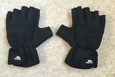 Mens Trespass Fingerless Gloves Size XL / XXL Black Maybe for Cycling ?