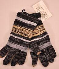 women's Touch & Go gloves black stripe one size smart phone touch finger MSR $30
