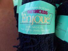 20 - 40 Grams/165 yds Reynolds Enjoue 100% Acrylic Dark Blue Yarn