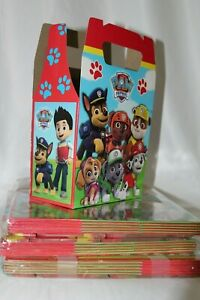 Paw Patrol Favor Treat Box *10Ct* Loot Goody Candy Bags Party Supplies