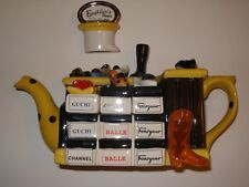 """Tony Carter Shoe Teapot """"Emelda's Shoes"""" Marked and Numbered 1937/99"""