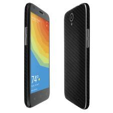 Skinomi TechSkin - Carbon Fiber Skin & Screen Protector for ZTE Prelude (2017)