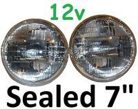 """7"""" Sealed Beam Headlights H4 Hi-Lo 75/50w Waterproof Datsun 140z 240z 260z 1600"""