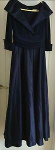Eliza J Ladies Navy Prom Ballgown Dress 16 3/4 length - good condition