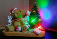 Retail $110! Enesco Cherished Teddies Bear w/ Toy Box Lighted Limited Ed Musical