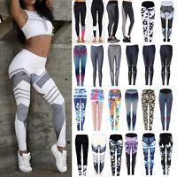 Womens Workout Leggings Yoga Gym Jogging Slim Fit Sports Training Pants Trousers