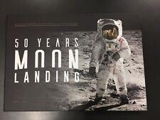 50 Years Moon Landing Stamp Medallion Collection 2019 Ltd Ed Set 124 of 150