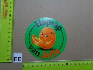 Alter Aufkleber Obst Orangen Citrusfrüchte JAFFA (B)