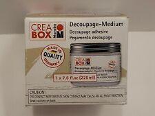 Creabox Decoupage-Medium Marabu Adhesive 7.6 Fl. Oz Sealed In Original Packing