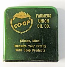 1970's CO-OP FARMERS UNION OIL Climax Minnesota advertising tape measure *