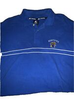 Vintage University of Kentucky Wildcats Starter Polo Shirt Mens Blue XL Vtg UK