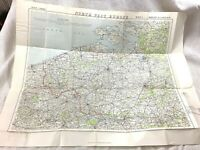 Large WW1 Military Map 1914 The Outbreak of War North West Europe Belgium France