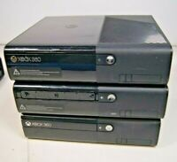 Lot of 3 Broken Microsoft Xbox 360 E Game Consoles As Is For Parts No HDD