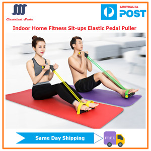 [AU Stock] Indoor Home Fitness Elastic Resistance Foot Pedal Puller For Sit-ups