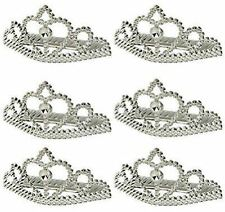 6pk Princess Metallic Tiaras Favour Childrens Birthday Party Favours