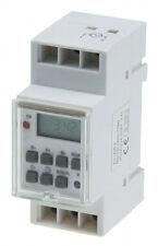 Zeitschaltuhr, Schalttafel-Einbau 230V/16A Hutschiene 3500W digitale