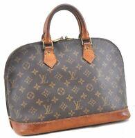 Authentic Louis Vuitton Monogram Alma Hand Bag M51130 LV C0834