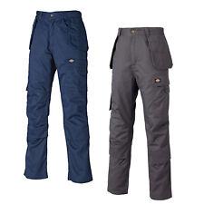 Dickies Redhawk pro Gris Azul Marino Pantalón de Trabajo Corto, Reg y Alto