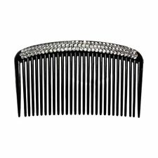 Bling Bling Triple Rows Crystal Black Comb Hair Pin for Women C5I7