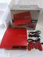 Sony PS3 Scarlet Red Console Slim PlayStation 3 W/Box 320GB CECH-3000BSR Game